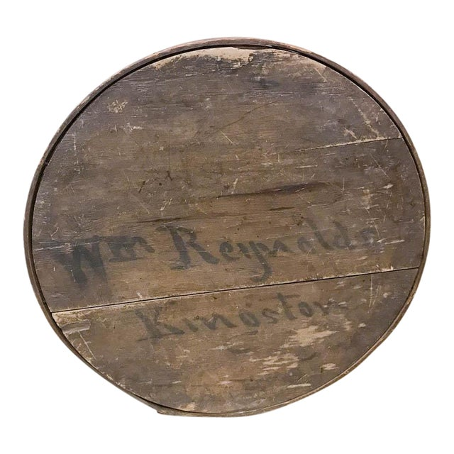 Antique Round Wood Box - Kingston, Ny For Sale