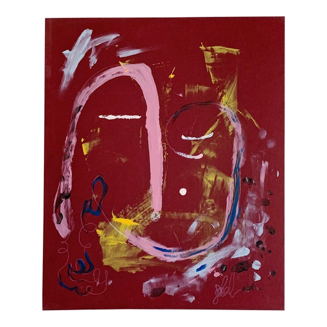 """""""Calm Dispenser"""" Contemporary Abstract Acrylic Painting For Sale"""