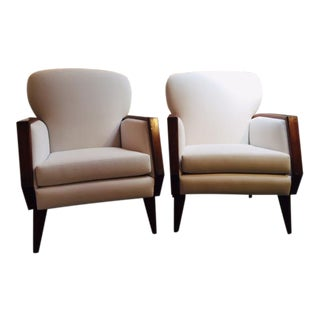 1940s Vintage French Armchairs- A Pair For Sale