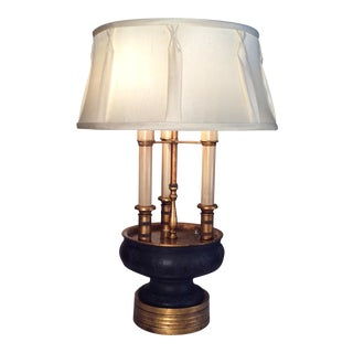 19th Century Figurative Black Jasperware Lamp