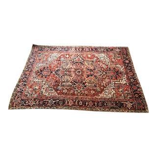 1920s Persian Roomsized Carpet Heriz Oriental Rug For Sale