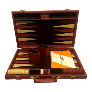 Vintage Mid-Century Modern Style Backgammon Game For Sale