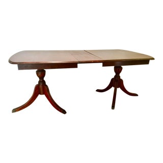 Duncan Phyfe Style Mahogany Dining Table For Sale