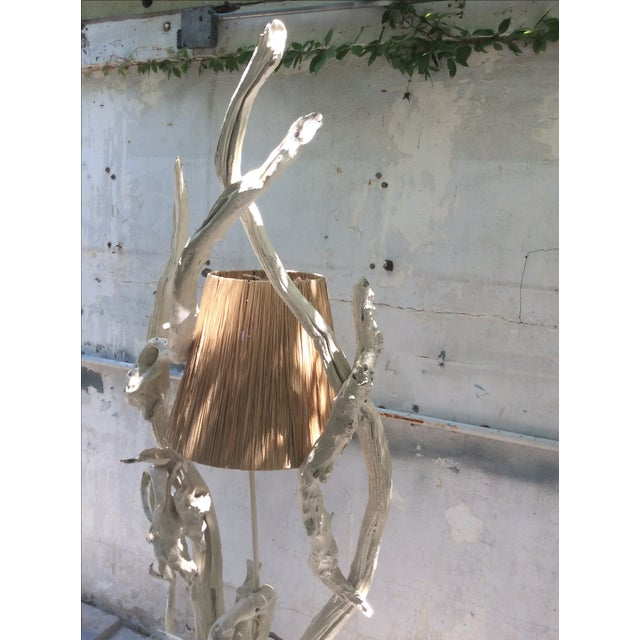 Mid Century Modern Driftwood Sculptural Table Lamp - Image 5 of 8