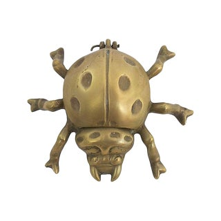Mid-Century Brass Ladybug Ashtray For Sale