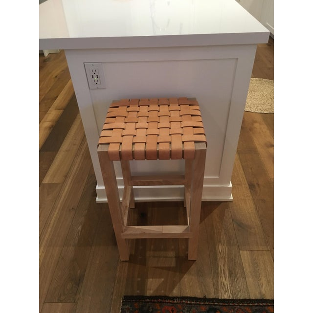 Leather Strap Counter Stool - Image 4 of 4