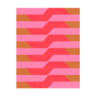 "Modern ""Color Ideas 27: Pink, Red, and Coffee"" Abstract Fine Art Print by Jessica Poundstone For Sale"