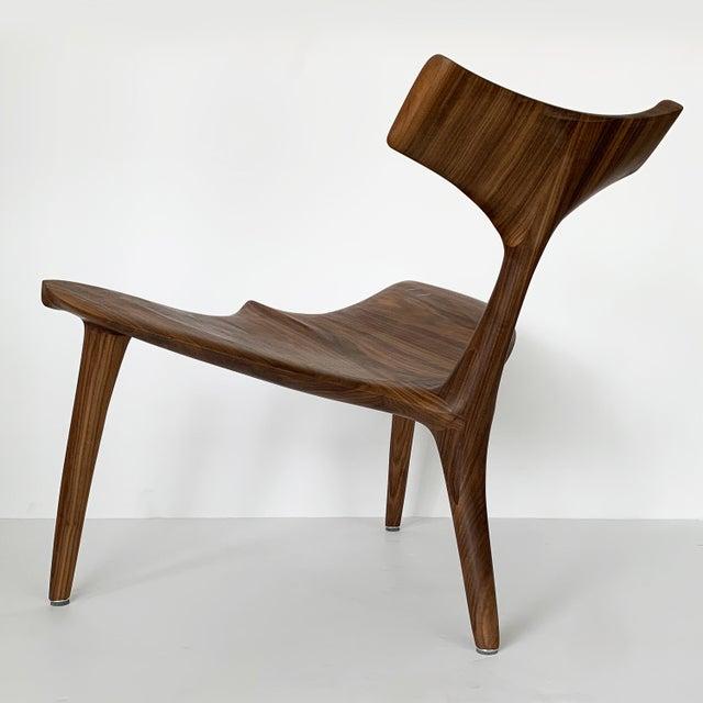 "Sculptural Walnut ""Whale"" Chair Morten Stenbaek For Sale In Chicago - Image 6 of 13"