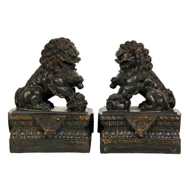 Chinese Foo Dog Statues - A Pair - Image 3 of 4