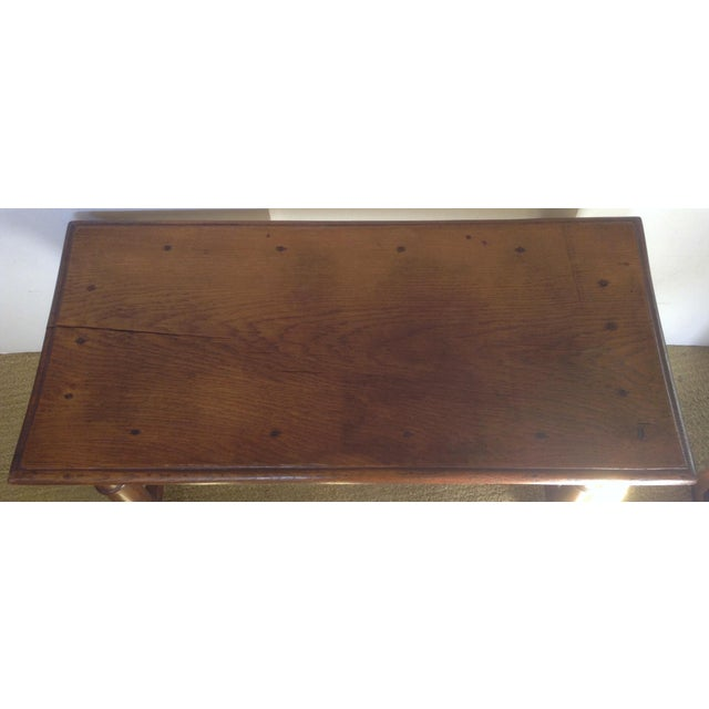 French Country 19th C. American Table / Bench For Sale - Image 3 of 7