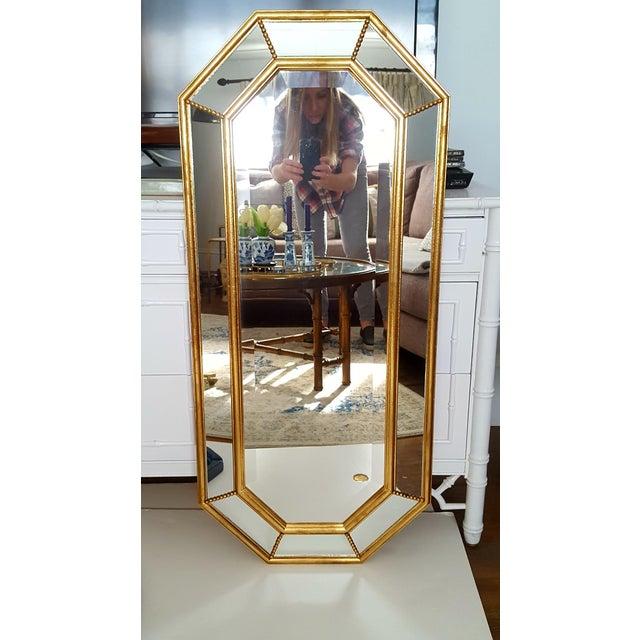 Vintage La Barge Italian Gilt Wood Octagonal Gold Beveled Mirror - Image 8 of 8