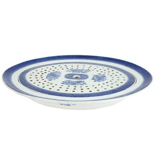 Late 18th-Early 19th Century Chinese Export Blue Fitzhugh Porcelain Blue Fitzhugh Oval Platter and Mazarin For Sale