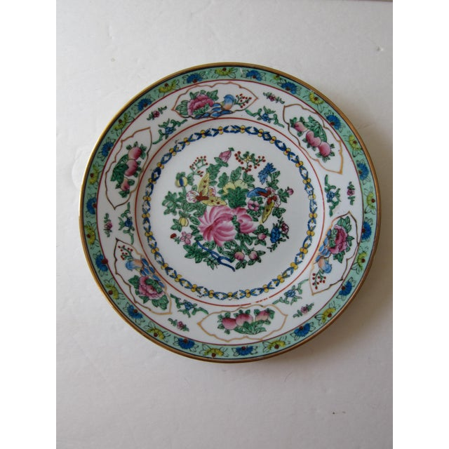 Chinoiserie Wall Plate With Butterflies For Sale - Image 4 of 4