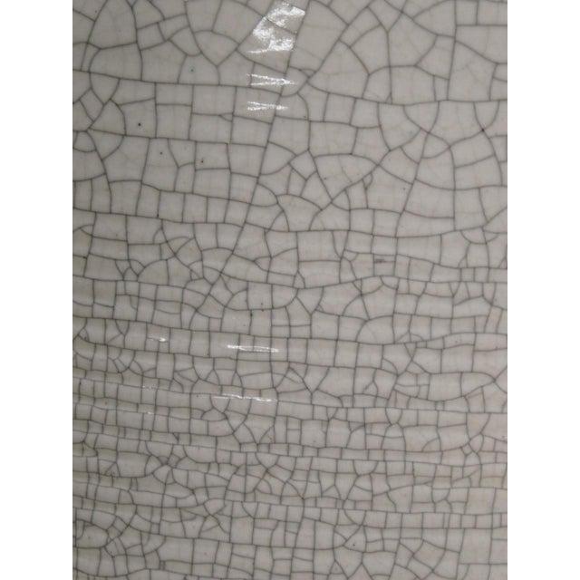 Metal Paul Laszlo Crackle Glazed Lamp For Sale - Image 7 of 8