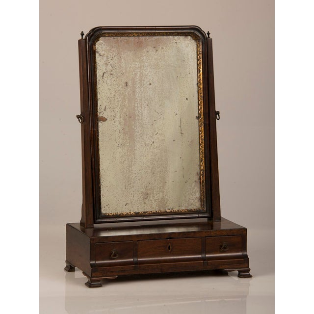 Traditional 18th Century George III Period Mahogany Dressing Mirror For Sale - Image 3 of 8