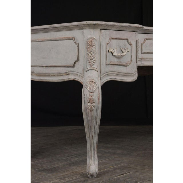 Traditional Louis XV-Style Distressed Finish Desk For Sale In Los Angeles - Image 6 of 13