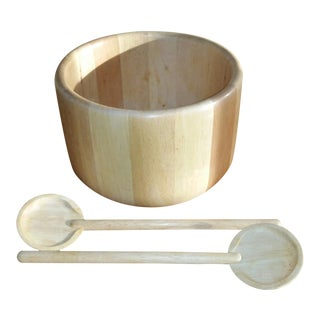Dansk Jhq Salad Bowl & Servers For Sale
