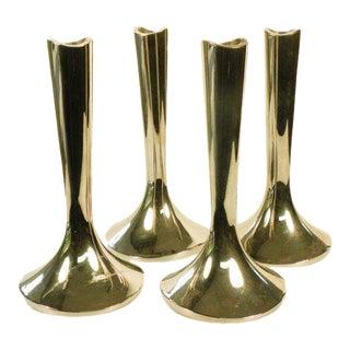 1980s Vintage Modern Dansk Silver Candle Holders - Set of 4