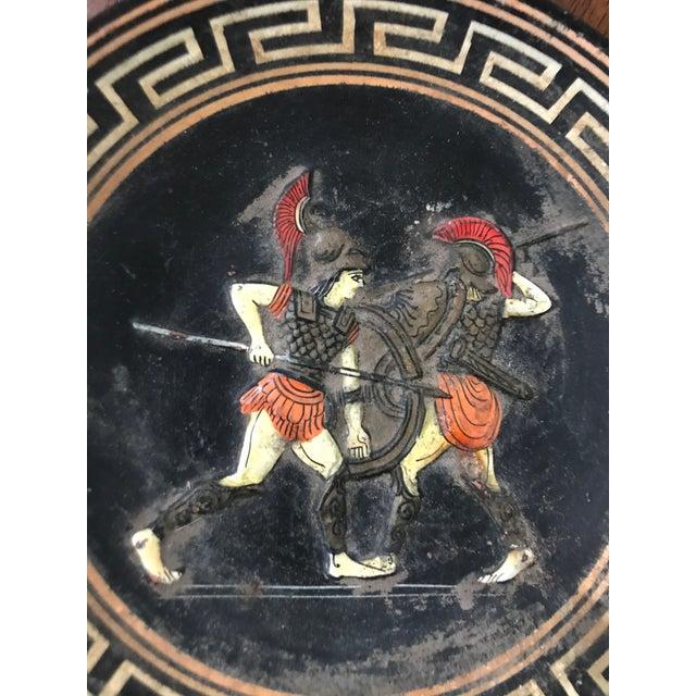Vintage Mid Century Modern Greek Men Fighting Decorative Plate, Greece Wall Plaque Artwork Amazing Estate Find Super Cool...