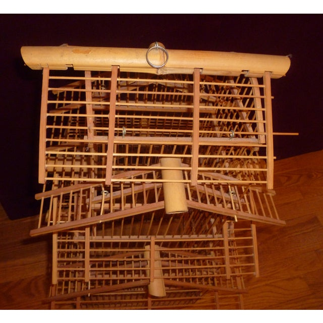 1970s Bamboo Wood Bird Cage For Sale In Atlanta - Image 6 of 8