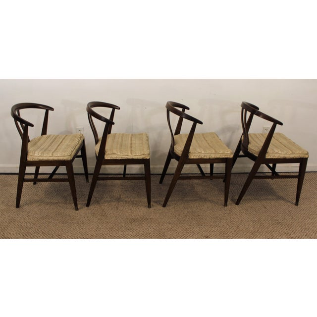 Curved-Back Walnut Dining Chairs - Set of 6 - Image 4 of 11