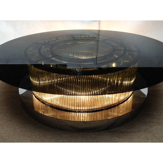 Italian Monumental Italian Crystal Bars Coffee Table For Sale - Image 3 of 10