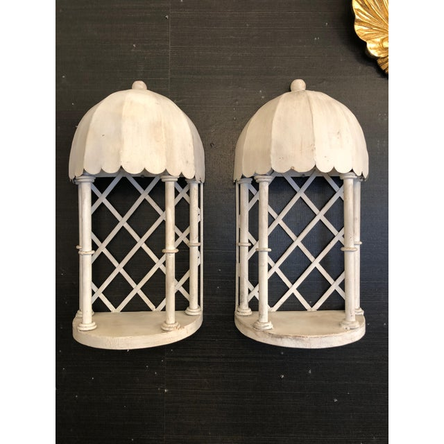 Metal 1960s French Iron & Tole Wall Brackets Sconces - a Pair For Sale - Image 7 of 7