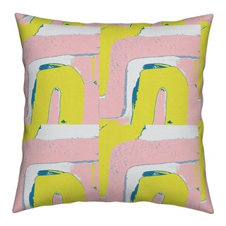 Tuk Tuk Citrine Bubblegum Pillow by Kerri Rosenthal
