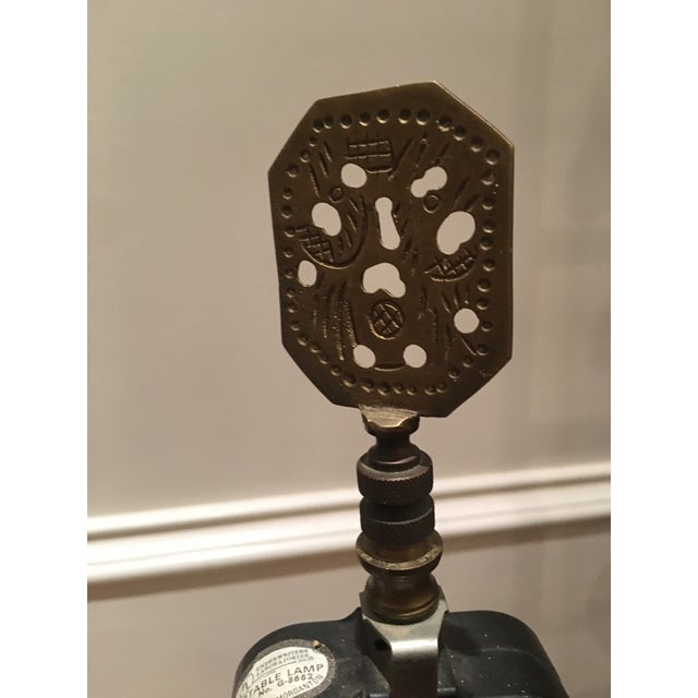 Gold Knob Creek Brass Lamp For Sale - Image 8 of 11