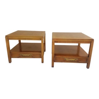 Mid Century Modern Wooden Side Tables - a Pair For Sale