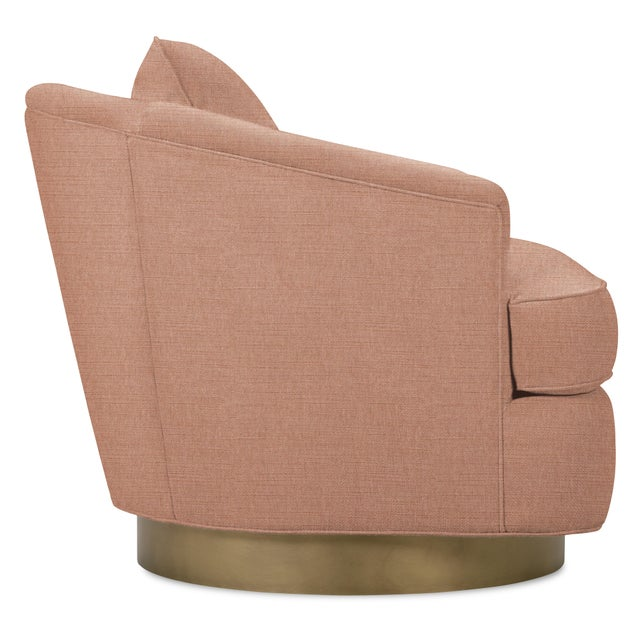 Contemporary Tempest Chair, Pink Velvet For Sale - Image 3 of 5