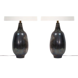 Lee Rosen for Design Technics Ceramic Lamps - a Pair For Sale