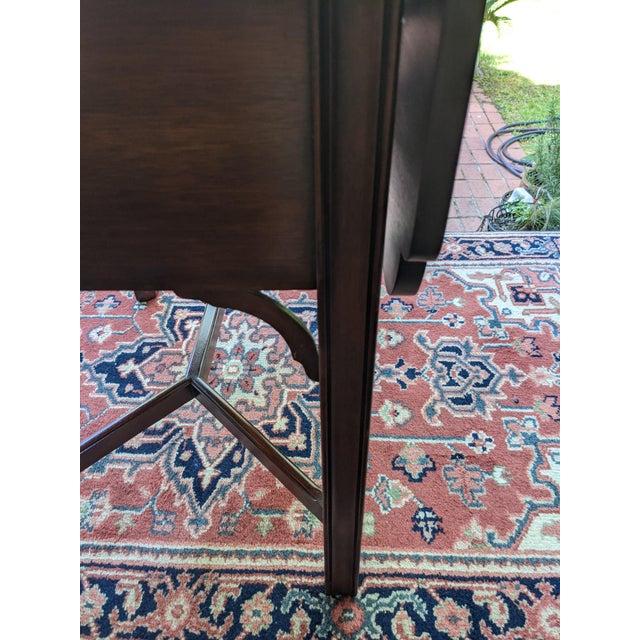 Brown Vintage Henkel-Harris Drop Leaf Mahogany Side Table For Sale - Image 8 of 12