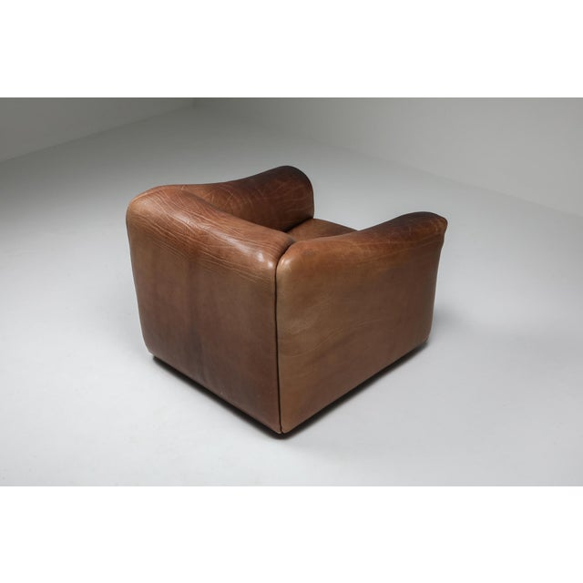 1970s 1970s De Sede Ds 47 Brown Leather Armchair For Sale - Image 5 of 10