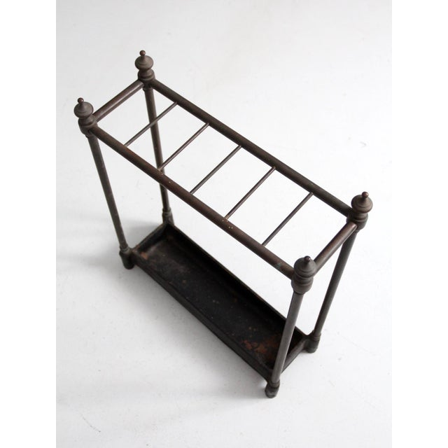 Metal Antique Fireplace or Umbrella Stand For Sale - Image 7 of 10