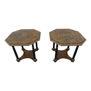 Baker Furniture Empire Style Side or End Tables - a Pair