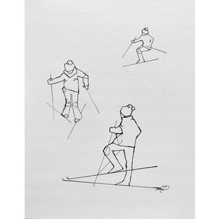 Tawna Allred Ski School Contemporary Drawing For Sale