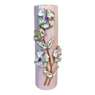 Vintage Capodimonte Style Floral Vase For Sale