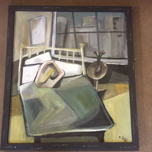 Original Modernist Stewart Ross Abstract Painting For Sale In Philadelphia - Image 6 of 6