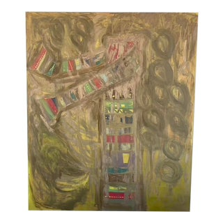 """""""Tree II"""" Contemporary Abstract Expressionist Oil Painting For Sale"""