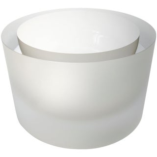 Anna Torfs Valenta Glass Bowl in Smoke For Sale