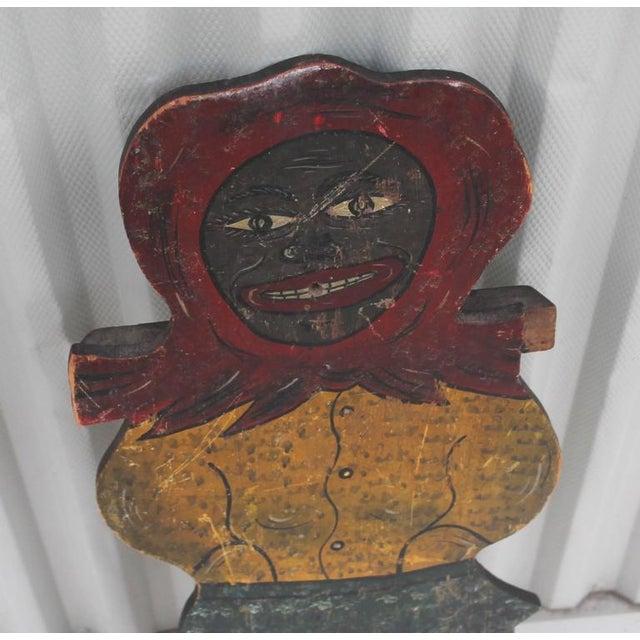 Large Handmade Folk Art Mammy Carnival Art - Image 3 of 5