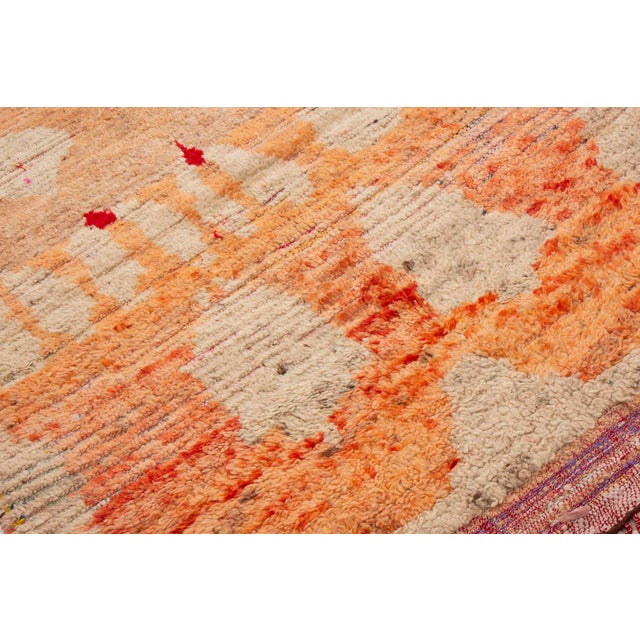 Contemporary Moroccan Berber Geometric Wool Pile Rug - 3′8″ × 7′3″ For Sale - Image 4 of 6