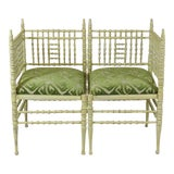 Image of 19th Century Corner Chairs - a Pair For Sale
