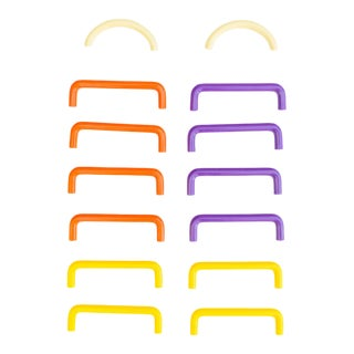 Memphis Drawer Pulls | Cabinet Hardware | Purple Paprika Yellow For Sale