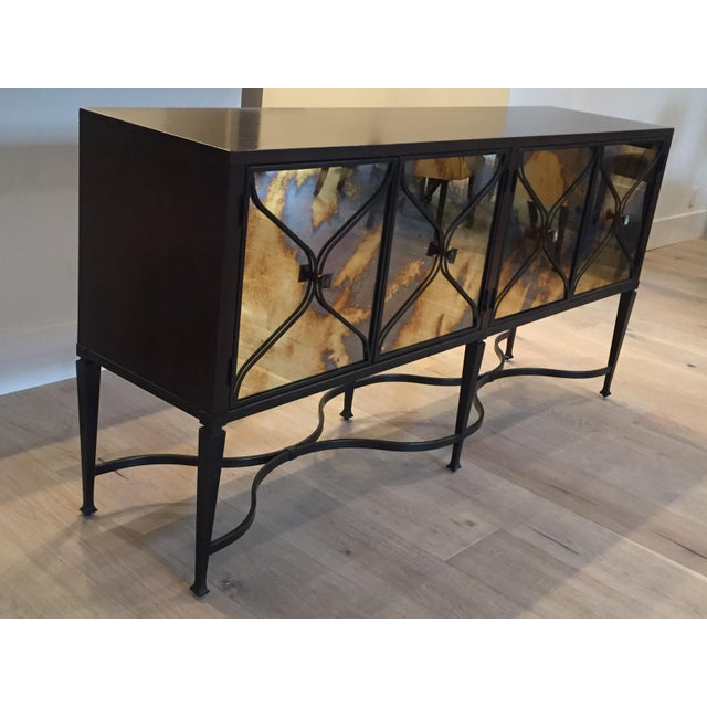 Contemporary Modern Luxury, Caracol Furniture; Italian Smoke & Mirror Console For Sale - Image 3 of 13