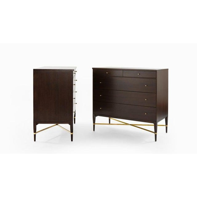 Paul McCobb Pair of Bedside Mahogany Chests by Paul McCobb, Calvin Group, 1950s For Sale - Image 4 of 13
