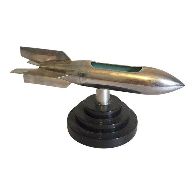1950s Chrome Rocket Ashtray For Sale