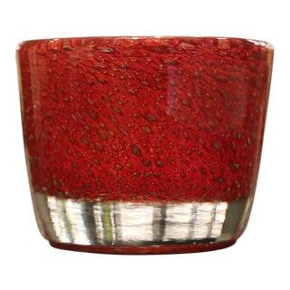 Cabuchon Red Crystal Vase For Sale