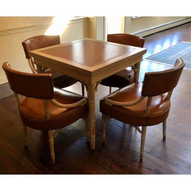 Vintage Game and Card Table With Chairs For Sale - Image 12 of 13